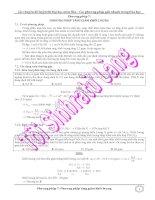 Các phương pháp giải nhanh trong hóa học - Phương pháp tăng giảm khối lượng