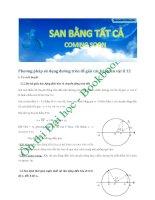 Phương pháp sử dụng đường tròn để giải các bài tập vật lý 12