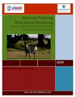 Tài liệu New and Evolving Web-based Marketing – How to Find a Market Outlet for your Wildlife Friendly Products ppt