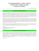 Tài liệu THE MANAGEMENT OF MULTIDRUG RESISTANT TUBERCULOSIS IN SOUTH AFRICA docx