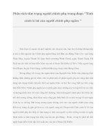 Tài liệu Phân tích tâm trạng người chinh phụ trong đoạn ''''''''Tình cảnh lẻ loi của người chinh phụ ngâm