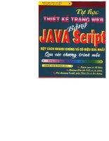 tự học thiết kế trang web bằng java script