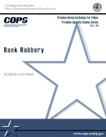 Tài liệu Problem-Oriented Guides for Police Problem-Specific Guides Series No. 48: Bank Robbery pptx