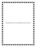Tài liệu Cập nhật thủ công Virus Definitions cho máy Mac ppt