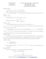 Tài liệu Tổng hợp đề thi thử ĐH môn Toán các khối Đề 55 ppt