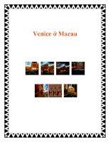 Tài liệu Venice ở Macau ppt