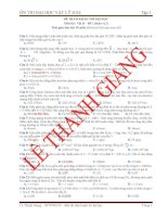 luyện thi đại học vật lý 2014 đáp án- đề 2