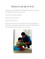 Tài liệu Bài học từ việc dạy bé đi bô potx