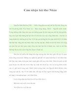 Tài liệu Cảm nhận bài thơ Nhàn pdf