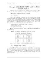 Tài liệu Giáo trình Vi điều khiển - Chương 3: Các hoạt động của vi điều khiển MCS-51 pdf