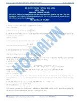 Tài liệu Đề tự luyện thi thử đại học số 06 môn toán pptx
