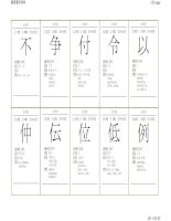 k grade 4 - hoc kanji theo tung ngay