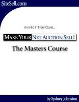 Tài liệu .Make Your Net Auction Sell - The Net Auction Game docx