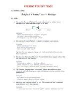 Tài liệu Perfect tense (Thì hiện tại hoàn thành) doc