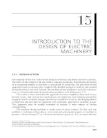 Chapter 15  introduction to the design of electric machinery