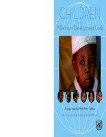 Tài liệu Children And The Millennium Development Goals pdf