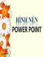Tài liệu Hinh nen cho Powerpoint moi pptx