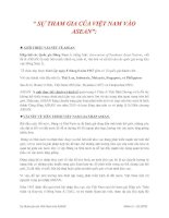 SỰ THAM GIA CỦA VIỆT NAM VÀO ASEAN