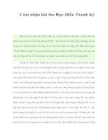 Tài liệu Cảm nhận bài thơ Đọc Hiểu Thanh Ký docx