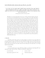 Tài liệu CÁC YẾU TỐ TÁC ĐỘNG ĐẾN TRIỂN KHAI THÀNH CÔNG HỆ THỐNG HOẠCH ĐỊNH NGUỒN LỰC (ERP) TẠI VIỆT NAM: MỘT ÁP DỤNG CẢI TIẾN CÁC YẾU TỐ CỦA MÔ HÌNH HỆ THỐNG THÔNG TIN THÀNH CÔNG pdf