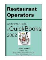 Tài liệu Restaurant Operators: Complete Guide toQuickBooks 2002 pptx