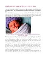 Tài liệu Cách giữ thân nhiệt ổn định cho trẻ sơ sinh ppt