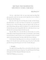 Tài liệu HIỆN TRẠNG PHẬT GIÁO BÌNH DƯƠNG TRÊN LĨNH VỰC VĂN HÓA - NGHỆ THUẬT pptx