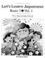 Lets learn japanese basic 1   volume 101