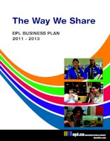 Tài liệu The Way We Share EPL BUSINESS PLAN 2011 - 2013 docx