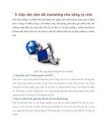Tài liệu 5 việc cần làm để maketing cho công ty nhỏ docx