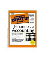 Tài liệu The Complete Idiot''''s Guide to Finance and Accounting pdf