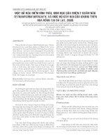Tài liệu MỘT SỐ ĐẶC ĐIỂM HÌNH THÁI, SINH HỌC CỦA NHỆN 2 CHẤM NÂU TETRANYCHUS URTICAE K. VÀ MỨC ĐỘ GÂY HẠI CỦA CHÚNG TRÊN HOA HỒNG TẠI ĐÀ LẠT, 2005 pptx