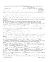 đề thi thử đại học lần 2 năm 2013 môn hóa - trường thpt yên thành 2 (mã đề 001)