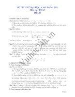 Tài liệu Đề thi thử đại học 2013 Môn Toán khối B Đề 36 pptx