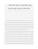 Tài liệu Phân tích nhân vật ông Hai trong truyện ngắn Làng của Kim Lân doc