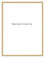 Tài liệu Nghệ thuật Ai Cập cổ đại pptx