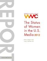 Tài liệu THE STATUS OF WOMEN IN THE U.S. MEDIA 2012 doc