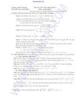 Tài liệu Trường THPT chuyên NGUYỄN QUANG DIÊU ĐỀ THI THỬ ĐẠI HỌC ĐỢT 1 Môn: Toán khối D docx