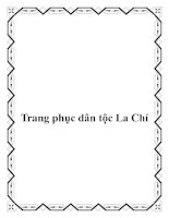 Tài liệu Trang phục dân tộc La Chí doc