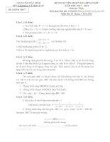 Tài liệu ĐỀ THI TUYỂN SINH VÀO LỚP 10 THPT NĂM HỌC 2013 – 2014 - SỞ GIÁO DỤC VÀ ĐÀO TẠO TỈNH BẮC NINH pdf