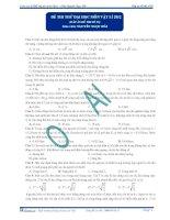 Đáp án đề thi thử đại học số 3 - 2013 môn toán thầy phương
