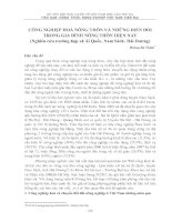 Tài liệu CÔNG NGHIỆP HOÁ NÔNG THÔN VÀ NHỮNG BIẾN ĐỔI TRONG GIA ĐÌNH NÔNG THÔN HIỆN NAY (Nghiên cứu trường hợp xã Ái Quốc, Nam Sách- Hải Dương) pdf