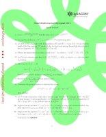 Tài liệu Đề thi toán bằng tiếng anh 2012 pdf