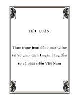 Tài liệu TIỂU LUẬN: Thực trạng hoạt động marketing tại Sở giao dịch I ngân hàng đầu tư và phát triển Việt Nam doc