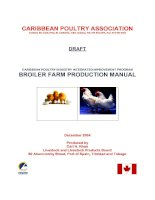 Tài liệu CARIBBEAN POULTRY INDUSTRY INTEGRATED IMPROVEMENT PROGRAM BROILER FARM PRODUCTION MANUAL doc