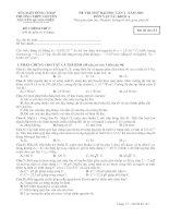 Tài liệu ĐỀ THI THỬ ĐẠI HỌC LẦN I NĂM 2013 MÔN VẬT LÝ: KHỐI A - TRƯỜNG THPT NGUYỄN QUANG DIỆU - MÃ ĐỀ THI 132 pot