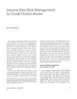 Tài liệu INTEREST RATE RISK MANAGEMENT AT TENTH DISTRICT BANKS pptx