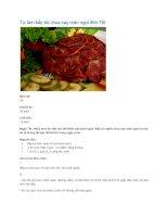 Tài liệu Tự làm bắp bò chua cay mặn ngọt đón Tết pptx