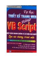 Tài liệu Tự học thiết kế trang web bằng VB Script một cách nhanh chóng và hiệu quả nhất (tập 2) ppt