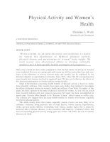Tài liệu Physical Activity and Women's Health pptx